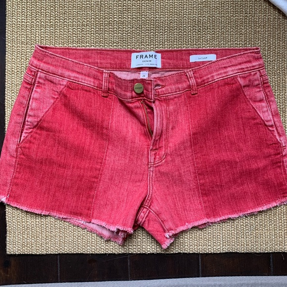 Frame Denim Pants - MUST GO!!! Frame le Cutoff cropped shorts red